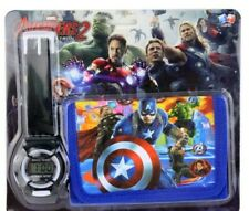Avengers Digital Watch & Wallet Gift Set For Kids Boys Girls Children Christmas