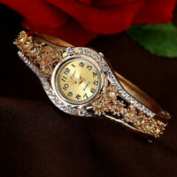 Women Lady Luxury Diamond Round Crystal Wrist Bracelet Quartz Watches Fashion US