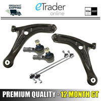 For FORD FIESTA MK7 FRONT WISHBONES ARMS PAIR 2008-2013 Inc Track Rods & Links