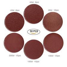 "50pc  5"" 40 60 80 120 150 220 Grit Hook and Loop Sanding Disc Sandpapper sheet"