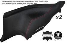 Rojo Stitch 2x Trasero Inferior Puerta Tarjetas Skin cubre encaja Nissan 300zx Z32 90-96