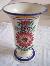 Portugal majolica-  porcelain vase,flowers design