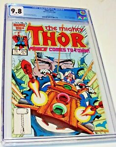 THOR # 371 CGC 9.8 WHITE PAGES ! 1st appearance Justice Peace TVA LOKI Disney+