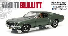 GreenLight 1/18 Bullitt 1968 Ford Mustang GT Fastback Steve McQueen Figure 12938