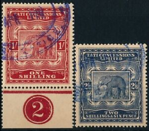 BECHUANALAND TATI CONCESSIONS 1896, 2 FORGERIES USED STAMPS. #M399