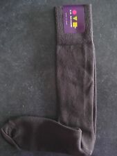 VK Nagrani Men's Luxury Socks Over The Calf One Size Fits Most Solid Brown