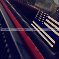 5 PCS Police Officer Thin Blue Line American Flag Decal Stickers Graphic