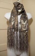 ISABEL MARANT for H&M NWT Silk / Metallic Fiber Scarf With Fringe One Size