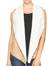 NWT GAP Women's Vest 2 XL - XXL Sherpa-trim Vest Outerwear Msrp $70