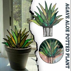 Suncatcher befleckte Agave Plante Garden Decor