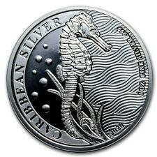 1 $ Dollar Caribbean Seahorse - Seepferdchen Barbados 1 oz Silber 2020