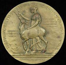 Massachusetts Society Prevention of Cruelty to Animals Bronze Medal 76 mm Porter