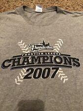 Windy City Thunderbolts 2007 Frontier League Champions T-Shirt Size Medium