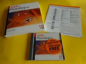 100% Genuine: Adobe PhotoShop 6.0 Full Version for Mac: OS 9.0 or 8.6, 8.5