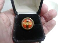 Vintage Coca Cola Soda Coke Bottle Advertising Ring brass Mint Condition