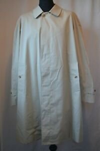 Vintage Burberry London made in England beige trench rain coat size large 52 mod
