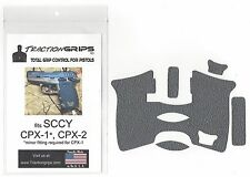 gray textured rubber grip tape overlay for SCCY CPX-1, CPX-2 / CPX pistol