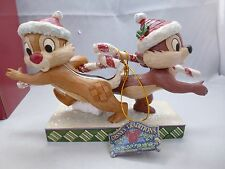 New in Box - Disney Traditions Christmas Chip n Dale - Candy Cane Caper Figurine