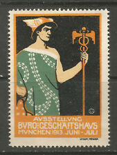 Germany/Munich 1913 Office & Commercial Buildings Exhibition poster stamp/label