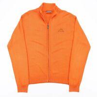 Vintage KAPPA  Orange Sports Cotton Blend Casual Track Jacket Mens L