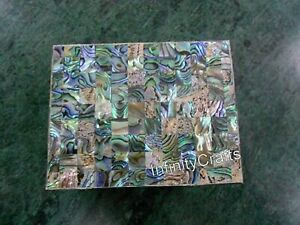 4 x 3 Inch Jewelry Box Abalone Shell Stone Inlay Art Marble Ring Box Decent Look