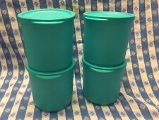 TUPPERWARE New PAIR of DEEP BASIC BRIGHT CONTAINERS 1-qt Container Set of 4 BLUE