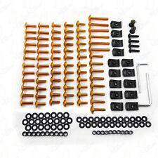 Complete Fairing Bolt Kit body screws  For Suzuki GSXR600 750 1000 Hayabusa Gold
