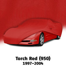 1997-2004 Corvette C5 Torch Red Color Match Indoor Soft Stretch Car Cover