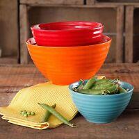 New The Pioneer Woman Flea Market 3-Piece Ceramic Mix Bowls