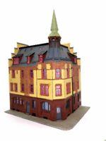 Sehr schönes Eckhaus mit Wohnungen und Turm ARITÄT BELEUCHTET Spur N D0128