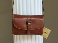Patricia Nash Torri Italian Leather Crossbody / Clutch Bag Tan NWT $129.00