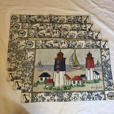 """4 Point Judith Lighthouse Placemats Tapestry 13"""" x 19"""""""