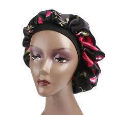 Women Wide Band Satin Bonnet Comfortable Night Sleep Turban Hat Hair Cap Ladies