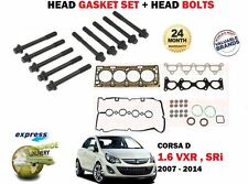 FOR OPEL VAUXHALL CORSA D 1.6 SRI VXR TURBO 2007-> HEAD GASKET SET + BOLT KIT