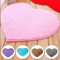 Love Heart Shaped Fluffy Rugs Shaggy Floor Mat Home Bedroom Hairy Carpet Pad