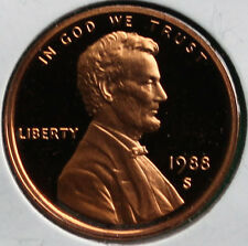 1988 S Lincoln Penny One-Cent Proof U.S. Mint Coin 1c from Proof Set