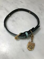 """Juicy Couture Geniune Leather Dog Collar Blue 15-18"""""""
