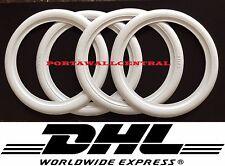 "ATLAS 15"" inch White Wall Portawalls Rubber ring insert trim SET X4"