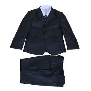 New Grey 5 Piece Boy Suits Boys Wedding Suit Page Boy Party Prom 2-13 Years
