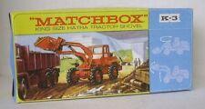 Repro Box Matchbox King Size K- 3 Hatra Tractor Shovel Blisterbox
