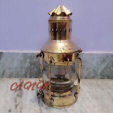 Brass Cargo Ship Railroad Oil Kerosene Burner Lantern Lamp