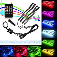 4 x RGB 12 LED 7 Colors Remote Control Car Interior Floor Atmosphere Strip Light
