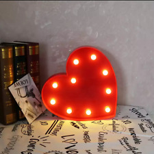 *Led Marquee Heart Light Up Valentine Lamp Decor