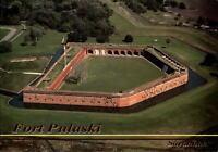 Fort Pulaski Savannah Georgia aerial view Civil War ~ vintage postcard