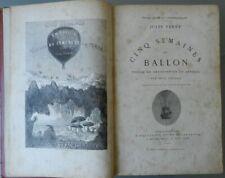 CINQ SEMAINES EN BALLON - JULES VERNE - ILLUSTRATIONS DE RIOU & MONTAUT - 1873