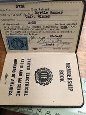 United Electrical, Radio and Machine Workers of America Membership Book 1942