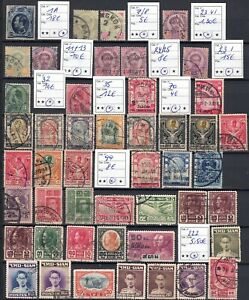 1883/1947 THAILAND, small collection old stamps, cat.val Mi = + 100.00€, used!