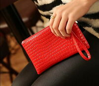 Women Crocodile Leather Purse Wallet Small Handbag Lady Clutch Bag Phone Bags