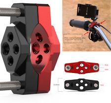 CNC Motorrad Stoßstange Lenker Halterung M8+M6 Adapter für Zusatzscheinwerfer 1x