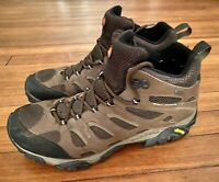 Merrell Moab Mid Waterproof Gore Tex Hiking Trail Boots Mens 12 Continuum J87701